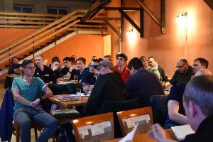 61 Unparteiische folgten kamen in Bluhm's Hotel nach Kyritz